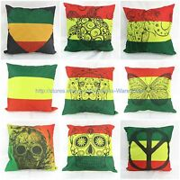 Wholesale 9pcs Rasta Reggae Cushion Covers Rastafarian Jamaican Lion Turtle