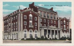 Image Is Loading Postcard The Capital Hotel Frankfort Ky