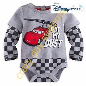 Disney Store Pixar Fest Cars Lightning McQueen Baby Bodysuit 3 9 12 18 24 M