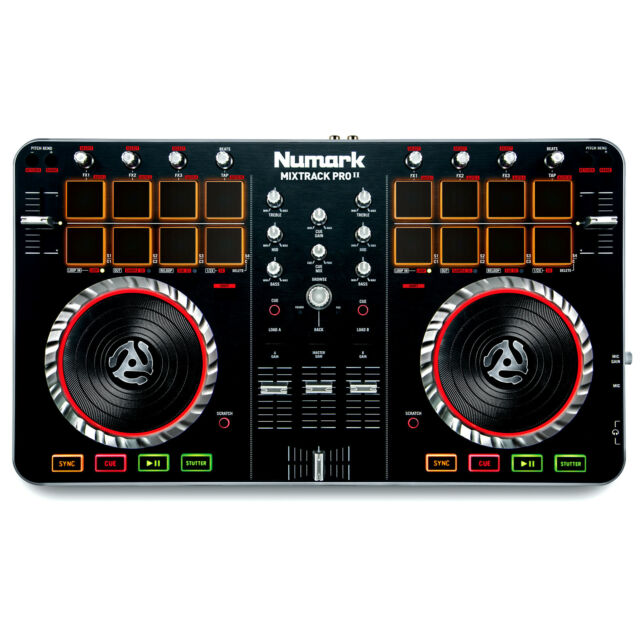 Numark Mixtrack Pro II 2 DJ Controller W/ Built-In Audio I/O & Serato Software