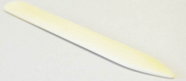 150mm Long Genuine BONE Paper and Card FOLDER NEW