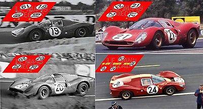 Calcas Ferrari 330 P3.4 Le Mans Test 1967 1:32 1:24 1:43 1:18 slot decals