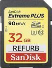 Sandisk Extreme Plus 32GB SD Memory Card Class 10 UHS-1 U3 90MB/s SDHC Original