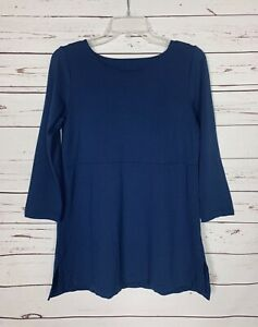 J.Jill Women's Size XS Extra Small Navy 3/4 Sleeve Ponte Knit Spring Top Shirt