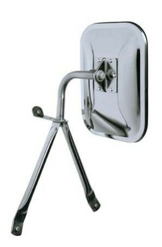 "Universal Cipa 45500 EO 7.5"" x 10.5"" Low-Mount Truck and Van Mirror Chrome"