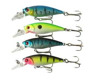 Cool Lot 4pcs Plastic Minnow Fishing Lure Floating Rattles