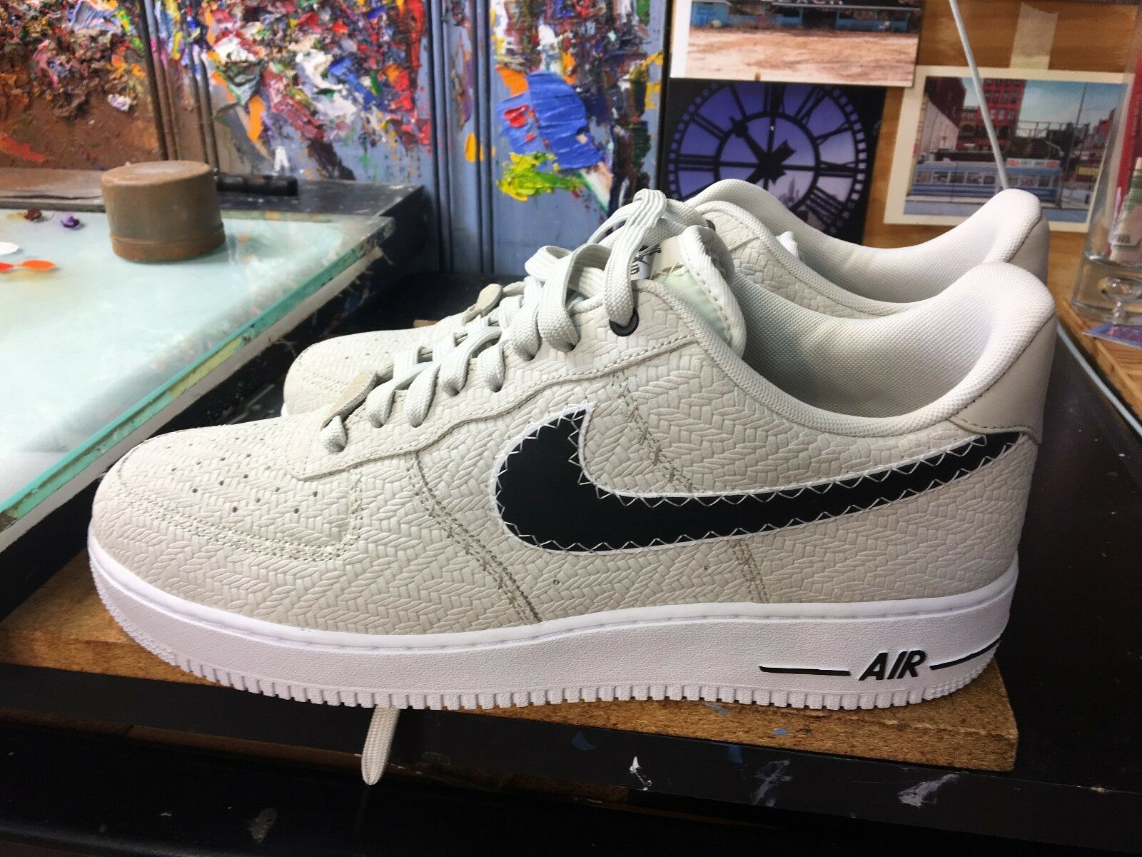 Nike Air Force 1 '07 N7 US Light Bone/Black-White NIB Size US N7 13 Men AO2369 001 97b313