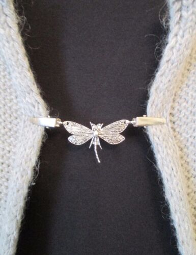Dragonfly Blouse Shrug Clips//Clasps Sweater Cardigan