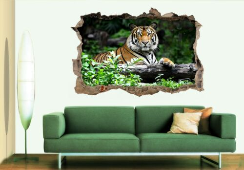 3D Tiger Forest 68 Wall Murals Wall Stickers Decal breakthrough AJ WALL CA