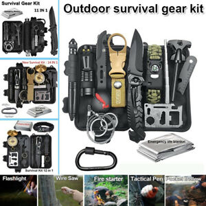 Camping Survival Gear Kit Tactical Military Emergency SOS EDC Outdoor Hiking A