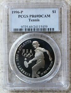 PCGS PR69 DCAM 1996-P US Smithsonian Institution Commem Proof Silver Dollar