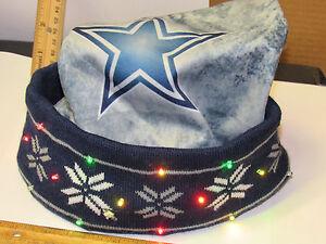 Dallas Cowboys Christmas Hat.Details About New Dallas Cowboys Led Light Up Winter Santa Hat Adult Size Cap Tailgate Party