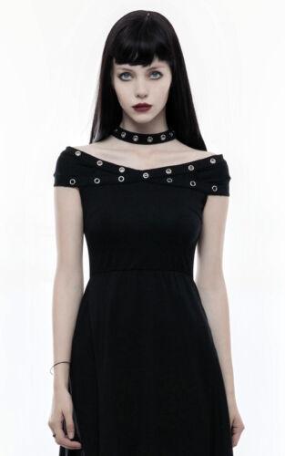 Robe asymétrique gothique punk lolita fashion burlesque collier oeillets Punkrav