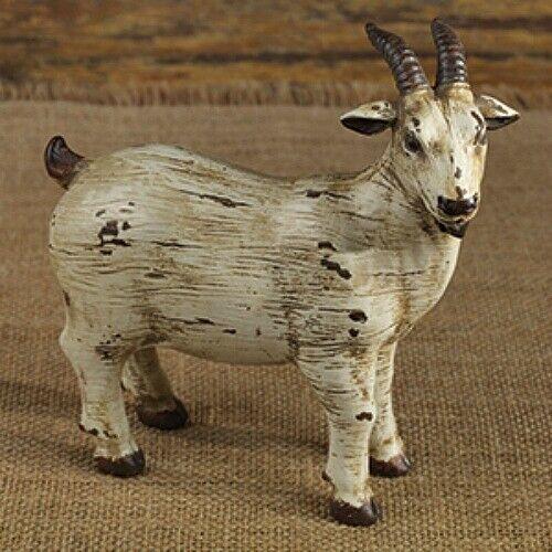 New Primitive Country Rustic OLD GOAT FIGURINE Farm Animal Figure