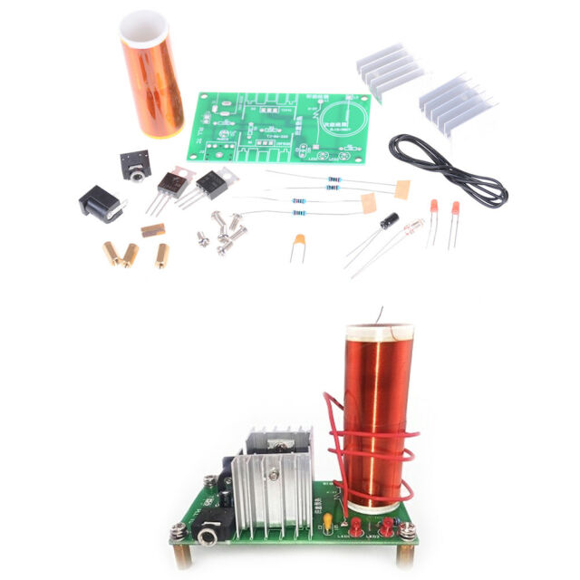 Mini Tesla Coil Plasma Speaker Electronic Kit 15W DIY Kits With StainlessBall%%