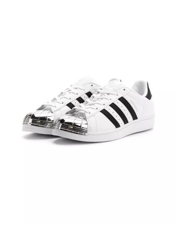 NEW ADIDAS SUPERSTAR MT W METAL TOE WHITE LEATHER SHOE BB5114 WOMEN SIZE 6 US