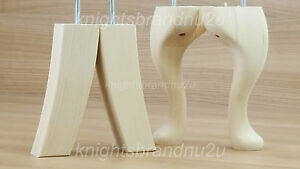 Image Is Loading 4x Queen Anne Legs Solid Wood Replacement Furniture