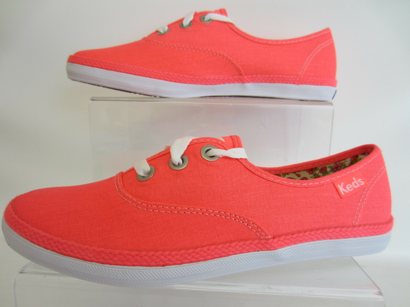 Keds WF46417 Plimsoles Rookie Neon Coral Ladies Plimsoles WF46417 UK Sizes 3.5 to 4.5 (R43B) ee02aa
