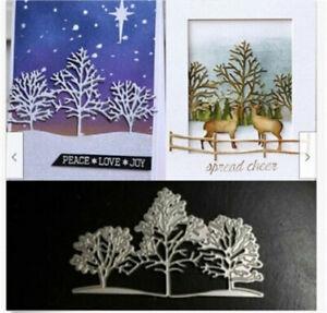 Stanzschablone-Baum-Set-Weihnachten-Hochzeit-Geburtstag-Karte-Album-Tagebuch-DIY