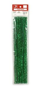 "25PCS Tinsel Stems Colored Pipe cleaners Glitter Craft 6mm x 12"" 9 Colors"