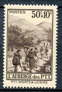 Intelligente Stamp/ Timbre France Neuf N° 347 ** Sport / L'auberge Des Loisirs