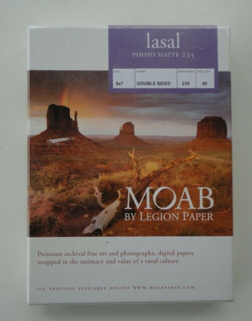 Double Sided 50 Sheets 235gsm 4x6 Moab Lasal Photo Matte Bright White Archival Inkjet Paper
