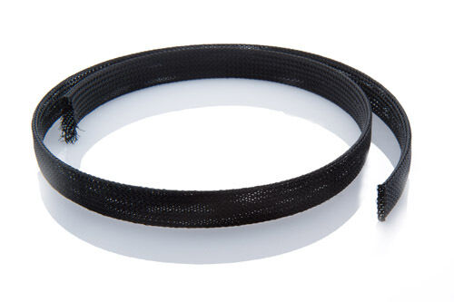 12mm Expandable Braided Cable Sheathing, Black or Grey, 100m