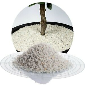 (0,68€/kg) Marmorsplitt weiß 25 kg Ziersplitt Marmorkies Zierkies Marmor Split