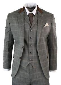 costume homme 3 pi ces tweed laine m lang e carreaux. Black Bedroom Furniture Sets. Home Design Ideas