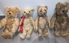 4x alte Steiff Bären mit Knopf - groß circa 35cm - gebraucht Teddy alt