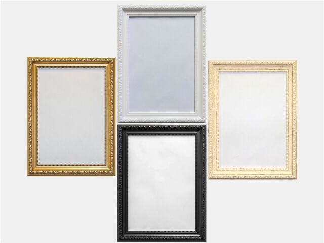 c2c9aaee7f10 Shabby chic Ornate French Panorama Picture Photo frame Cream White Gold  Black