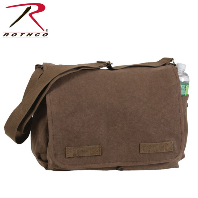 Rothco Brown Vintage Classic Messenger Bag 9694