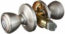 Kwikset 94002-874 Tylo Keyed Entry Knob with Smartkey Security In Satin Nickel