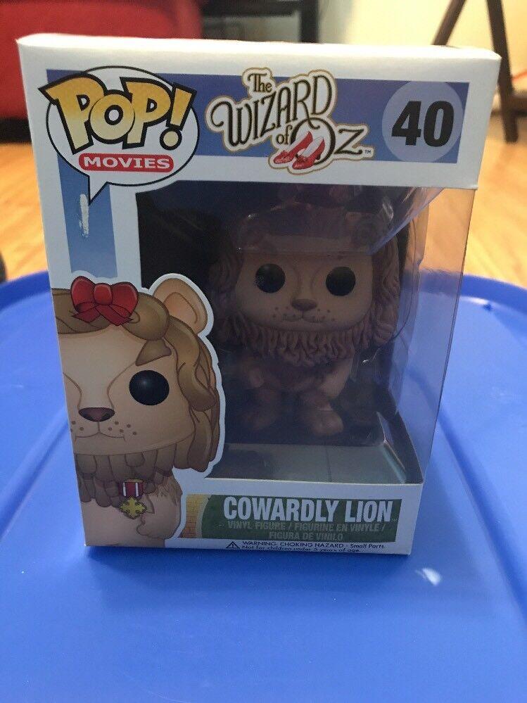 COWARDLY LION  40 Funko POP Movies RARE The Wizard of OZ Vinyl Figure Brand NEW