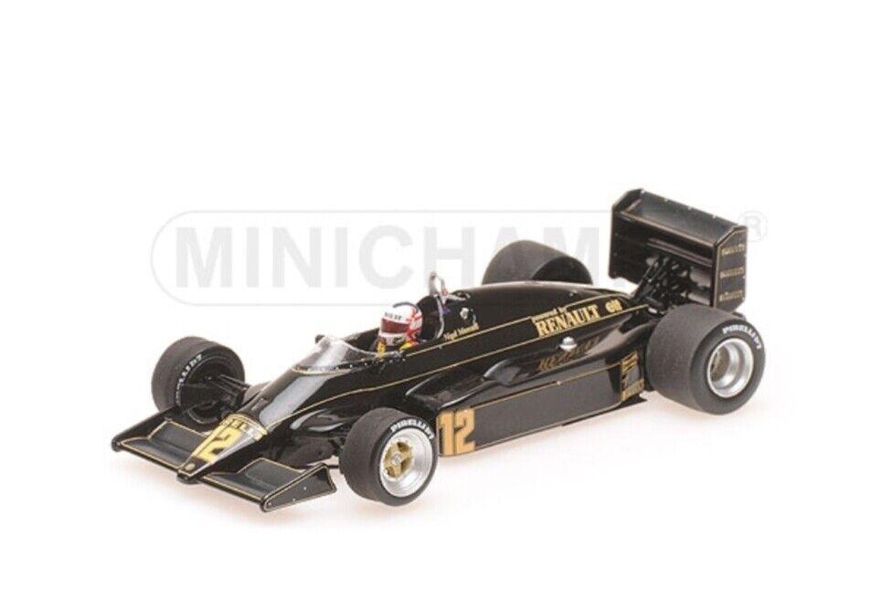MINICAMPS 417 830012 LOTUS RENAULT 94T F1 modellololo auto JPS Nigel uomosell 1983 1 43