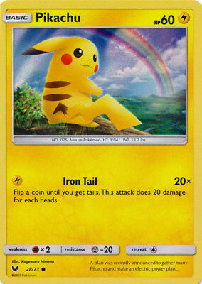 NM Shining Legends Special Collection 01//2018 Pikachu 28//73 Promo Holo