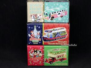 Tomica-Tokyo-Disneyland-2016-Christmas-Wishes-Diecast-Car-Set-of-3-TDR-TDS