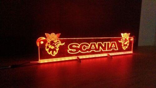 Dimmer Red 12V LED SCANIA 500mm Neon Sign Logo Light Plate