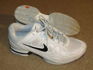 Details about GREAT Nike Zoom Lunarlon OrthoLite white w/ black swoosh  tennis shoes - womens 9