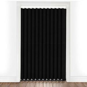 Plain Black Made To Measure Vertical Blind Replacement