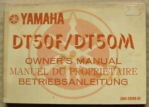 YAMAHA-DT50F-amp-DT50M-MOTORCYCLES-Owners-Manual-Handbook-1978-2M4-28199-81