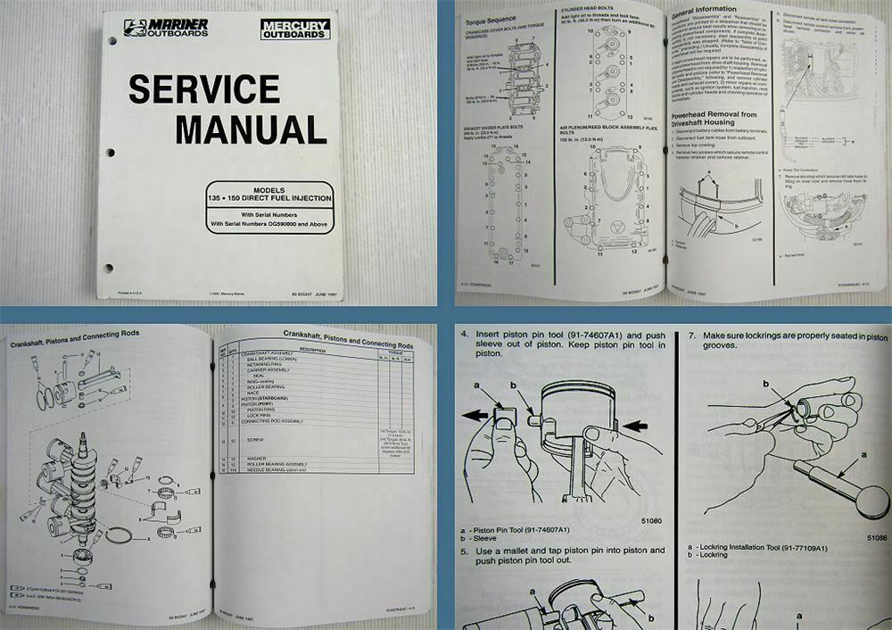 Mariner Mercury 135 150 Direct Fuel Injection Service Manual 1997