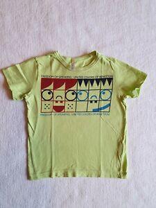Baby Kleinkind T-Shirt United Colors of Benetton Gr. 86 hellgrün Bio Baumwolle