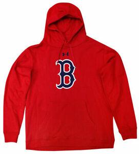 New-Men-039-s-XL-Under-Armour-Boston-Red-Sox-Team-Mark-Hoodie-Fleece-Sweatshirt-MLB