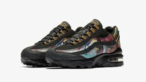 on sale b70ea 7065b Details about 2018 Nike Air Max 95 GS SZ 6.5Y Black Metallic Gold AT6158-001