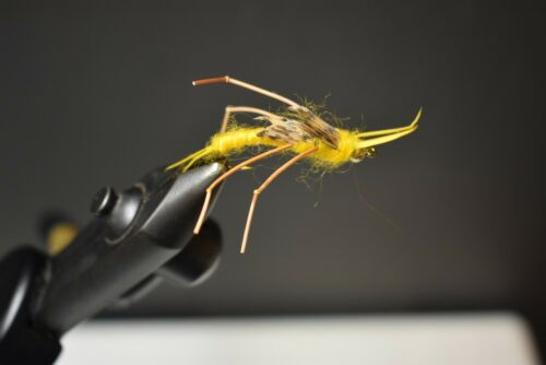Improved Golden Stonefly  Nymph Fly Fishing Flies Size 8 2 Flies