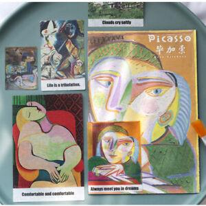 Handwerk-Papier-Sticker-Etiketten-fuer-Tagebuch-Frische-Aufkleber-Beruehmte-Kunst