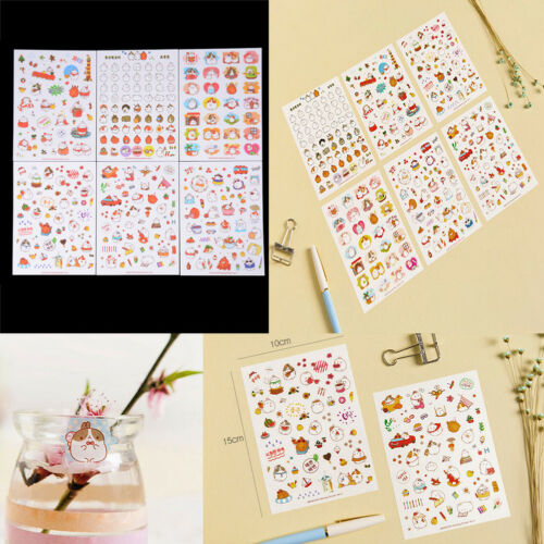 6Sheets Cute Cartoon Molang Rabbit Sticker DIY Diary Scrapbook Decal StickersLD