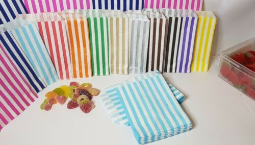 Candy Stripe Paper Bags Gift Shop Party Buffet Wedding Cake Sweet Treat Pick/&Mix
