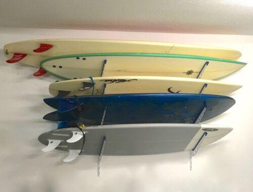 Metal Surf Storage RackAdjustable 4 Surfboard Wall MountStoreYourBoard